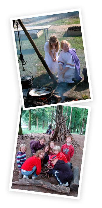 Open Fire Cooking and Shelter Building