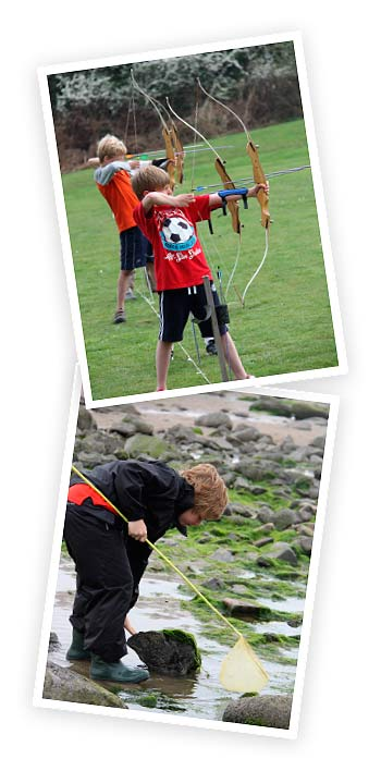 Archery and Rock Pooling